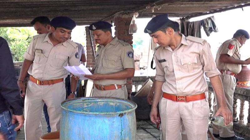 Gujarat Police drive on liquor ban alcohol prohibition in gujarat