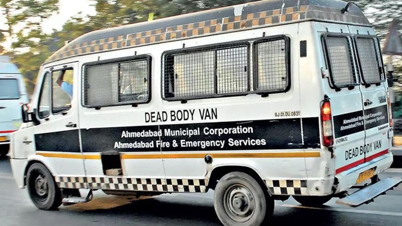 amc purchase new death body van ambulance