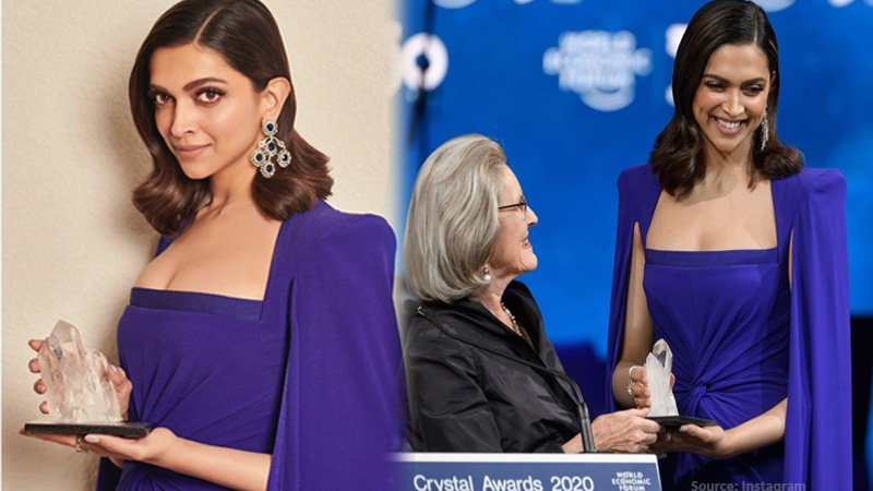 deepika padukone honored at the 26th crystal awards by the world economic forum 2020