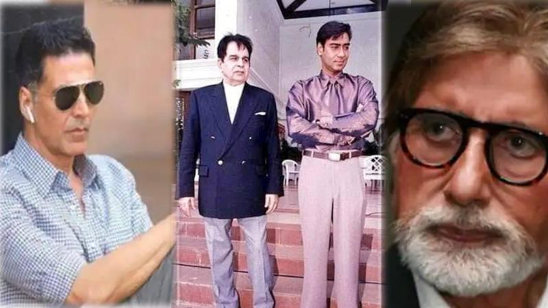 Dilip Kumar Death From Akshay Kumar to Ajay Devgan, Bollywood celebrities were shocked by the death of Dilip Kumar paid...