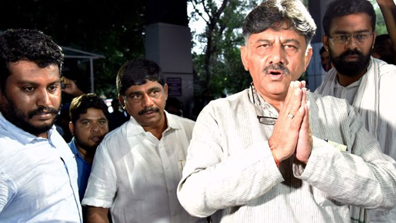 dk shivakumar to be in probe agency custody till september 13