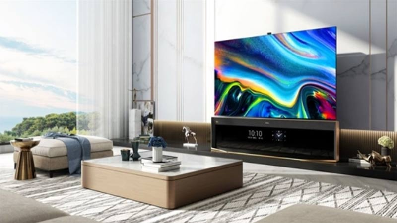 hisense launched world first dual screen 85 inch 8k pro television