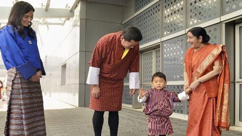 Bhutan King lights thousand lamps in memory of Sushma Swaraj