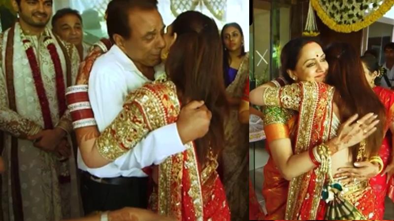 Esha deol shares vidaai video dharmendra and hema malini from her wedding album