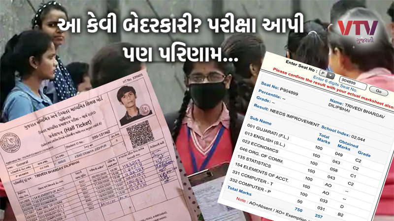 gseb 12th commerce student gave 7 subject exam but result only 5