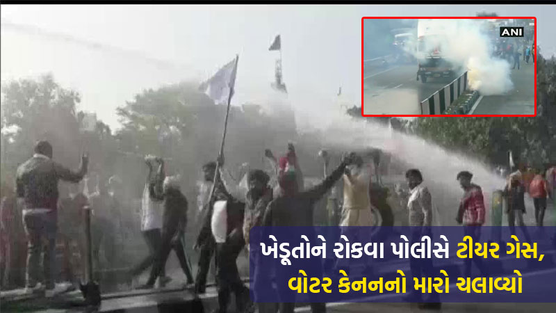 Farmers Brave Tear Gas Water Cannons Push Into Haryana For Delhi March