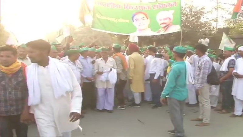 UP farmers gather in Noida for Delhi march 4 district police on high alert