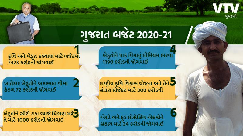 Gujarat budget 2020 nitin patel declared for farmer