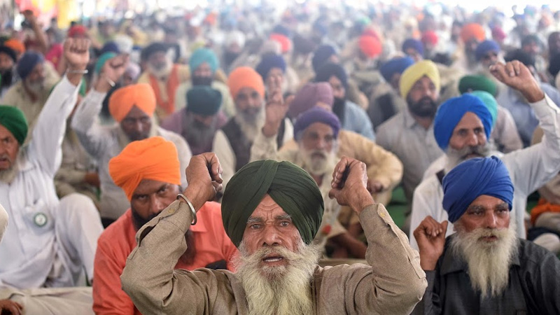the issue of indian farmer movement echoed in britain parliament