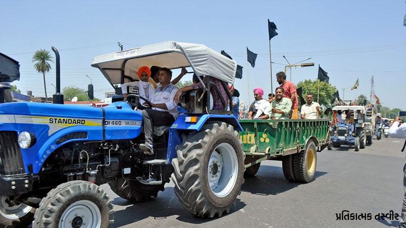 Man burnt alive in farmers protest delhi