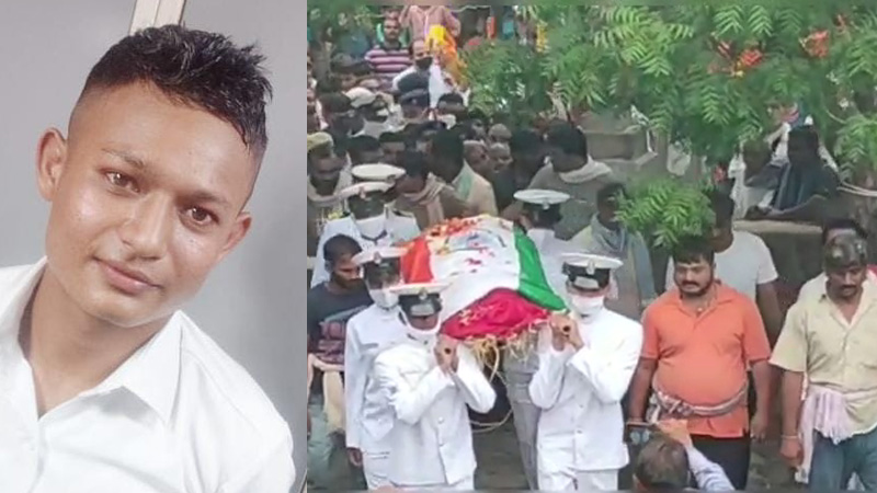 Martyr of Surendranagar who fell head over heels in a fan while repairing while on duty in the Navy