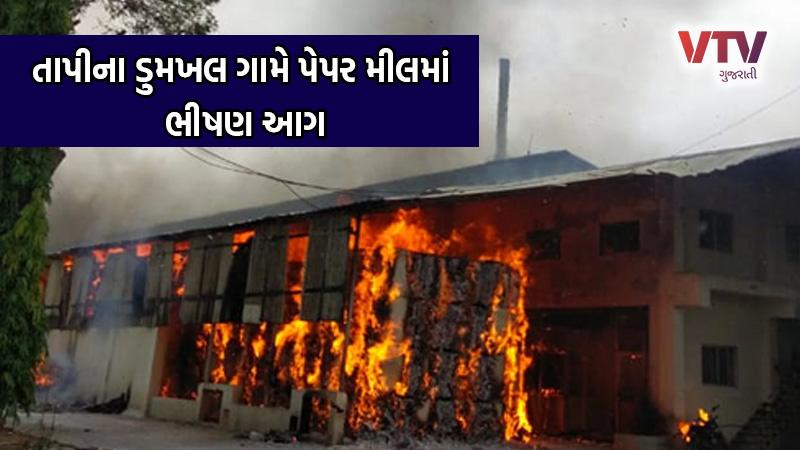 fire in peper mil valod tapi Gujarat
