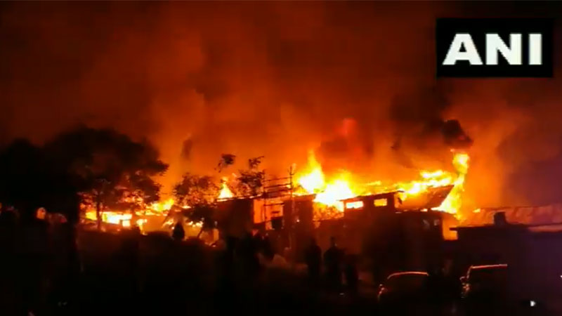 jammu and kashmir several houses gutted in a fire in noorbagh area of baramulla district