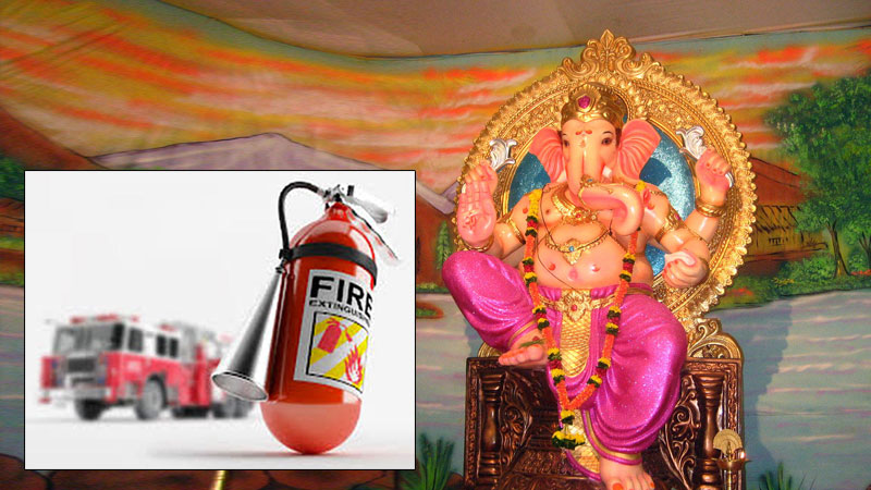 ganesh utsav constructed without fire brigade NoC ahmedabad