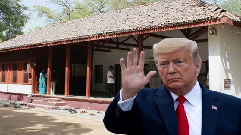 us president Donald trump pm modi visit gandhi ashram ahmedabad