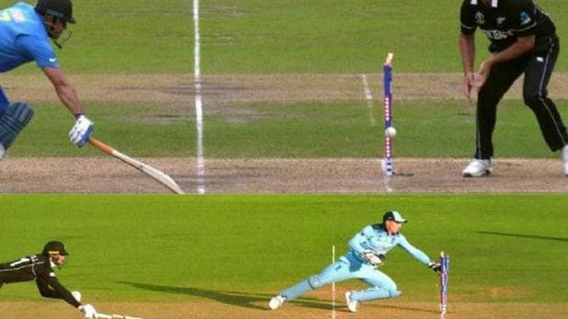 martin guptill run out world cup final england vs new zealand ms dhoni indian fans