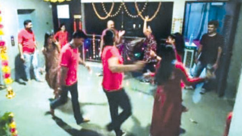 Navratri 2020 Ahmedabad people play garba on passage in corona guideline