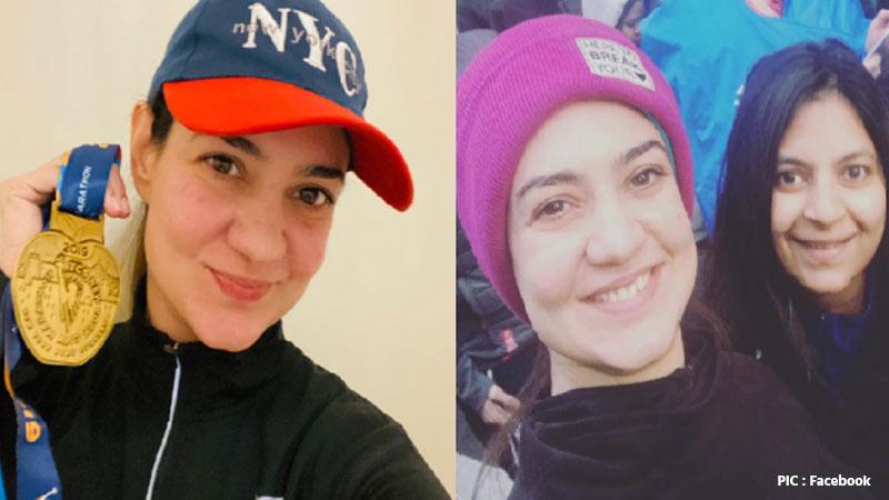two Gujarati women complete the New York marathon