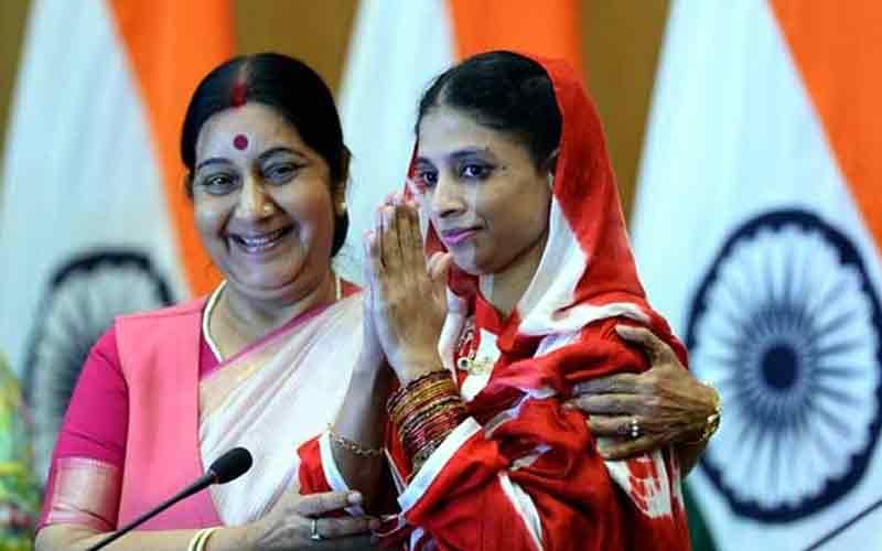 hearing impaired Geeta Pakistan Sushma Swaraj
