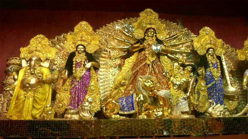 In The Making A Gold Plated Idol Of Goddess Durga Worth Rs 20 Crore