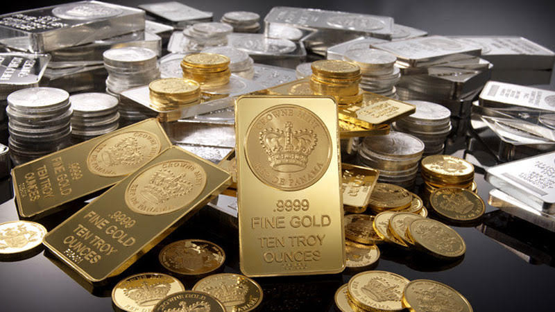 gold futures ease beloe silver hits down as dollr gains