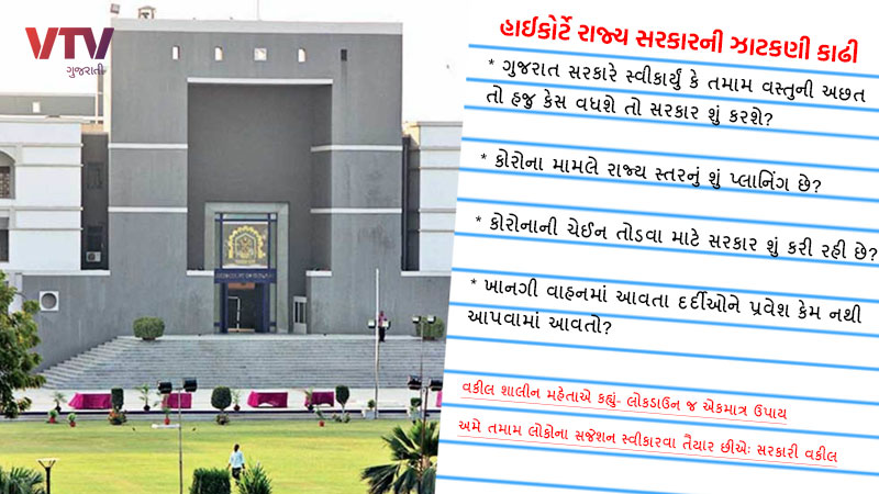 Gujarat High Court corona cases oxygen lockdown rupani government