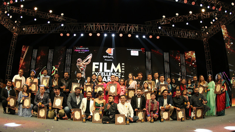Award function held at tent city kutchch for gujrati film industry