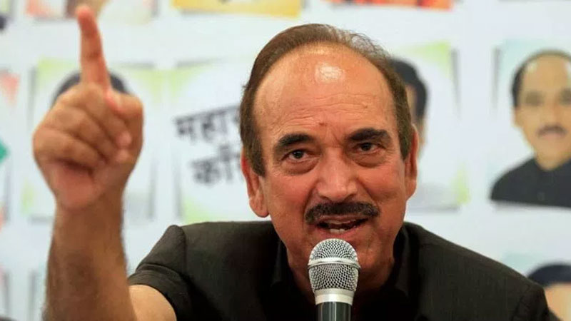 congress leader ghulam nabi azad was stopped at jammu airport in tuesday