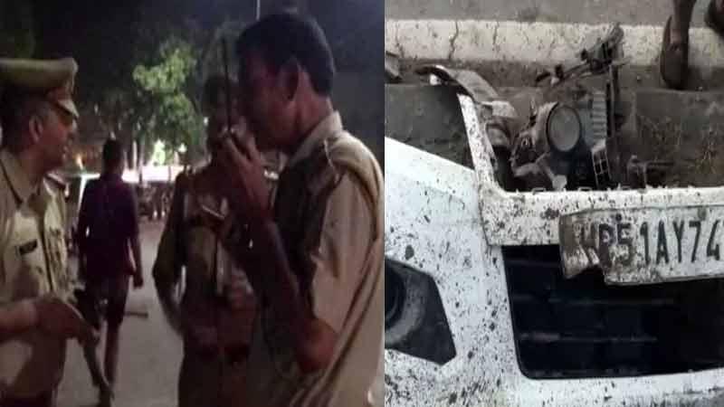 uttar pradesh hapur road accident 9 death