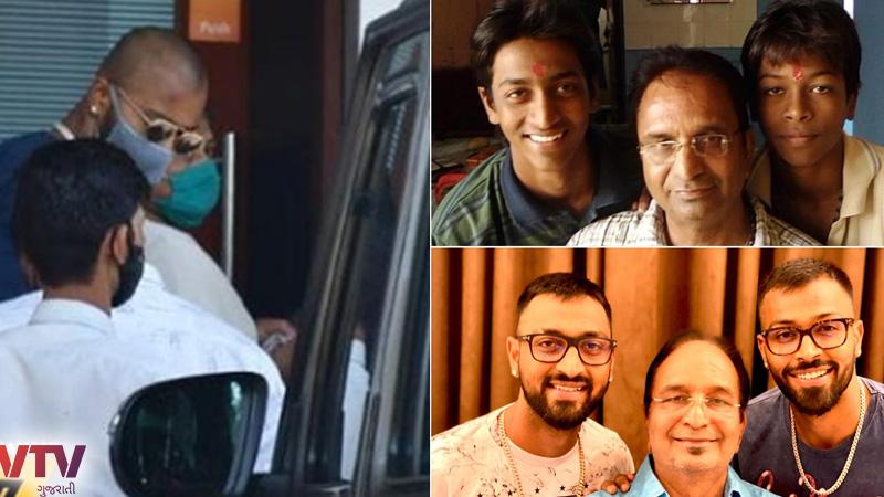 Hardik Pandya, his mother leave Mumbai for father Himanshu Pandya's last rites