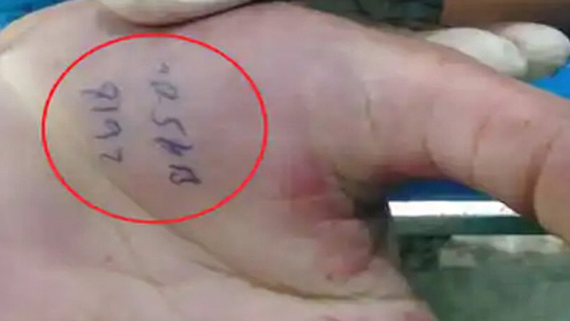 sonipat cop write the number of criminals car on his hand before he was killed