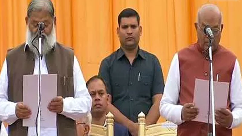 chandigarh city haryana cabinet expansion 6 mlas sworn in as cabinet ministers and 4 as ministers of state hrrm