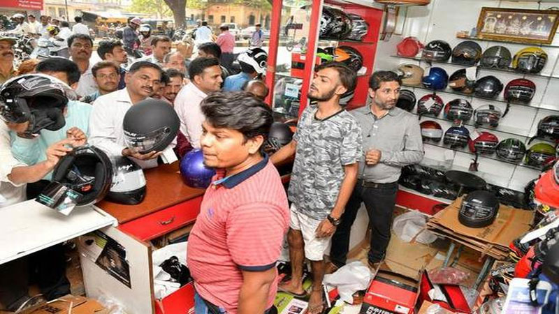 new traffic rules helmet sell double price shop in gujarat