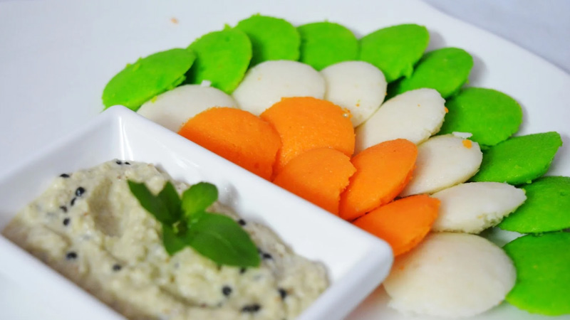 Try this tri colour Idli recipe at home on Republic Day