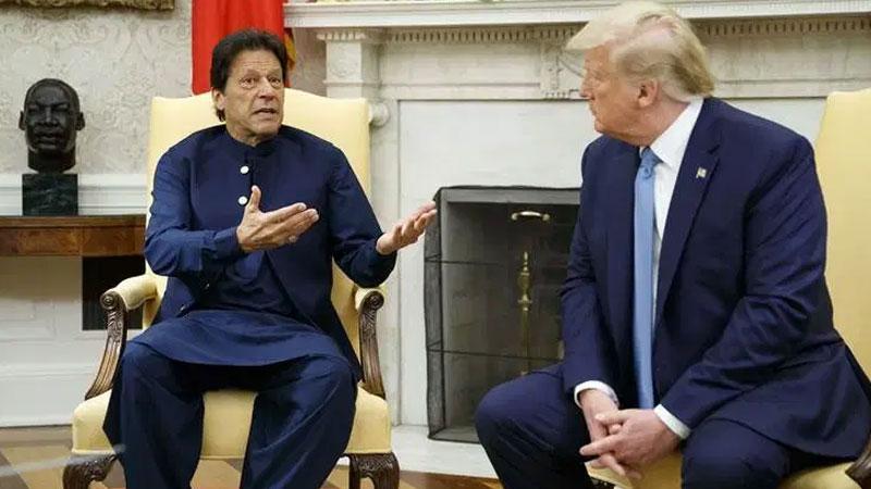pakistan pm imran khan meet us president donald trump today kashmir india pm modi