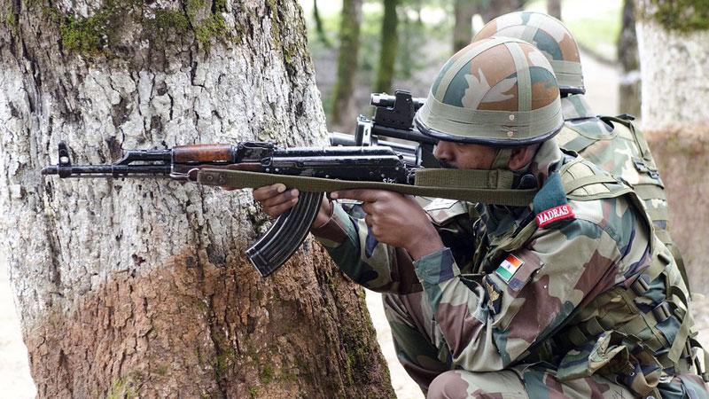 An Encounter between Indian army and terrorist at anantnag