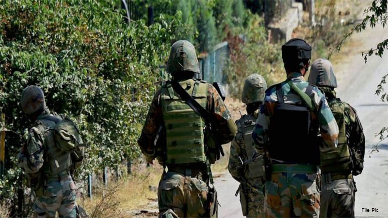 jammu kashmir loc pakistan bat terrorist infiltration video indian army grenade attack