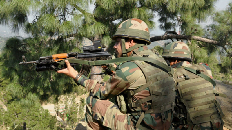 terrorist holed up in house of baramulla in kashmir