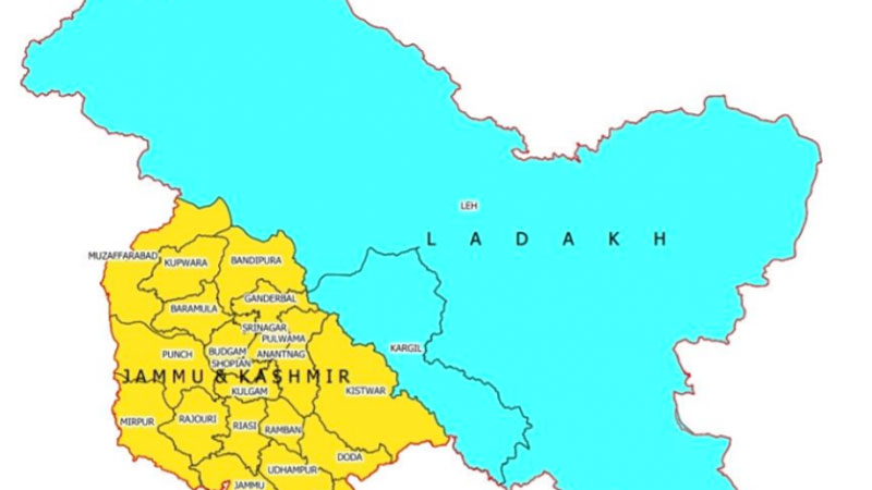 Govt releases new map of Jammu kashmir and ladakh