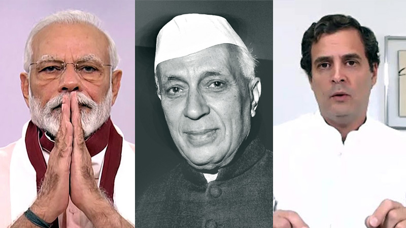 Jawaharlal nehru death anniversary pm modi and rahul gandhi tribute