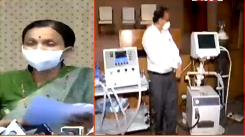 jayanti ravi press conference about Dhaman 1 ventilator validation for covid 19