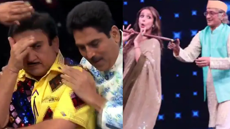 taarak mehta ka ooltah chashmah dilip joshi aka jethala close his eyes after see bapu ji dance with malaika arora