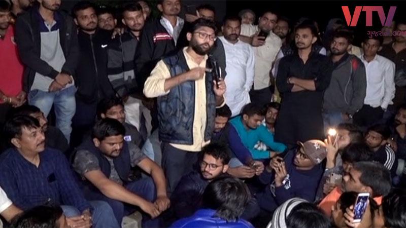 bin sachivalay exams scam jignesh mevani with student