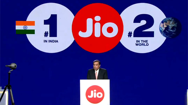 jio subscriber base at over 340 mn ready to kickstart 4 new growth engines ambani