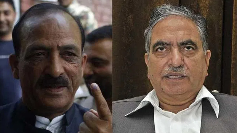 Two Kashmiri political leaders dilawar mir and ghulam hassan mir released from house arrest
