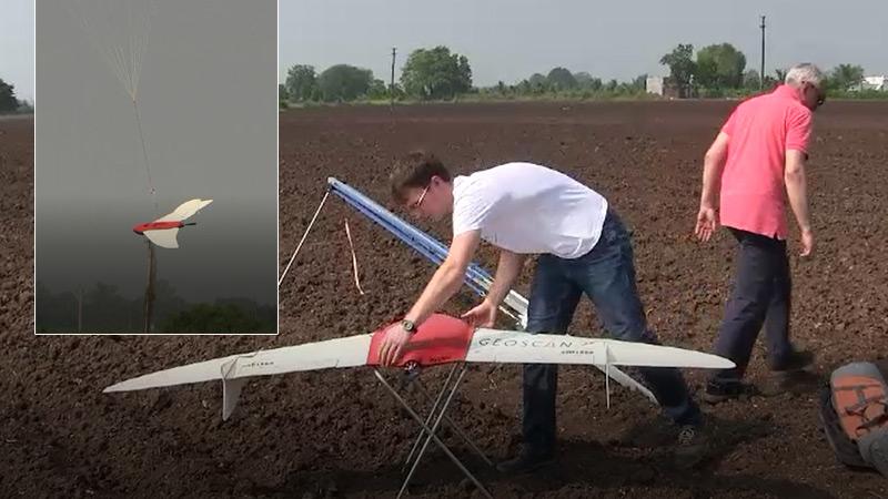 Cotton Production Pilot Project drone Survey Junagadh