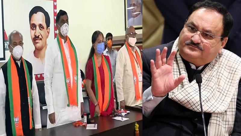 Political crisis bjp rajasthan leader meet  jp nadda