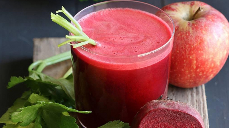 take apple and beetroot juice in breakfast lose weight and stay fit