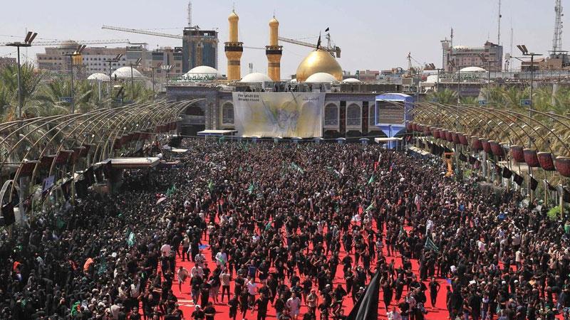Pilgrims died stampede shrine iraq karbala holy day of ashura muharram