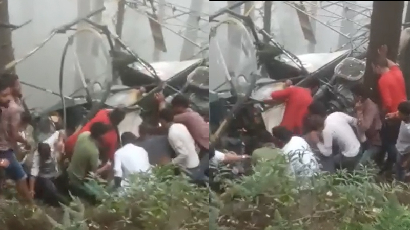 Army helicopter crashes in Kashmir